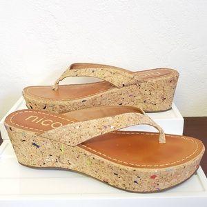 Nicole size 10 platform flip flops kork